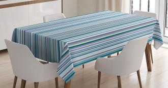 Blue Purple Geometric Tablecloth