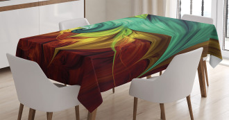 Stylized Fluid Colors Tablecloth