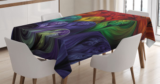 Surreal Colorful Forms Tablecloth