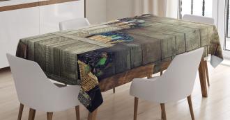 Wooden Ivy Florals Tablecloth