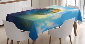 Cosmos Vibrant Scenery Tablecloth