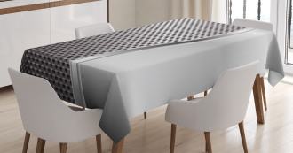Square Shaped Grids Tablecloth