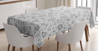 Rotary Round Rings Dots Tablecloth