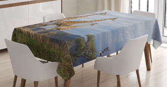 African Giraffe Family Tablecloth