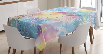 Colored Brushstroke Tablecloth