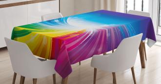 Wavy Funky Pop Art Tablecloth