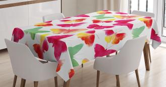 Watercolor Butterflies Tablecloth
