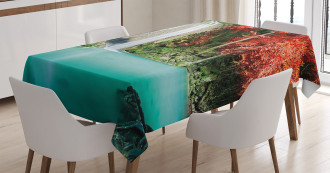 Fall Forest Oaks TableCloth