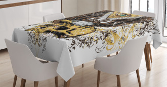 American Eagle on Skull Tablecloth