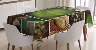 Stone Herbal Botanic Plant Tablecloth