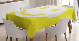 Positive Smiley Face Tablecloth