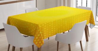 Yellow Ombre Circles Tablecloth