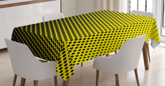 Yellow Themed with Dots Tablecloth