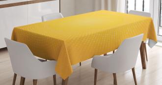 Modern Sunshine Circle Tablecloth