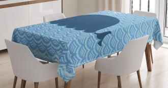 Sea Animal Wavy Patterns Tablecloth
