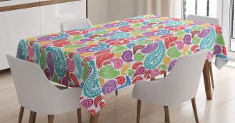 Modern Striped Oriental Tablecloth