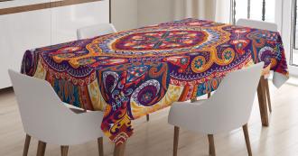 Arabic Flower Rug Tablecloth