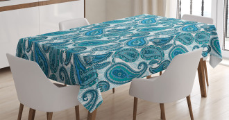 Ocean Stripe and Flower Tablecloth