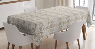 Abstract Geometric Buds Tablecloth