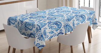 Sketch Flower and Flake Tablecloth