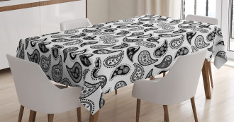 Different Flowers Forms Tablecloth