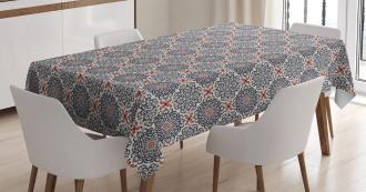 Boho Floral Vintage Tablecloth