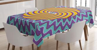 Color Hypnotic Circles Tablecloth