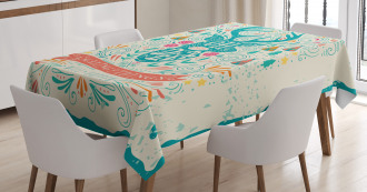 Inspirational Ornaments Tablecloth