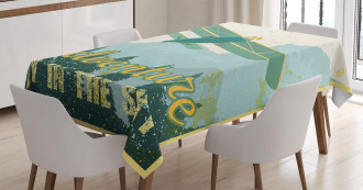 Adventure in Sky Plane Tablecloth