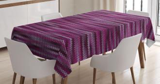Vintage Knit Pattern Tablecloth