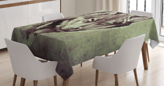 Winter Wild Wolf Forest Tablecloth