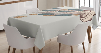 Boho Feather Artsy Tablecloth