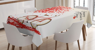 Heart Tree Bike Tablecloth