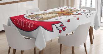 Bear and Violin Tablecloth
