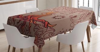 Charming Vintage Tree Tablecloth