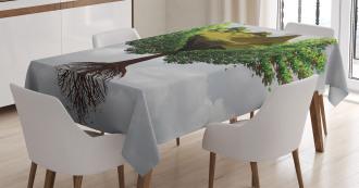 Fractal Tree Figures Tablecloth