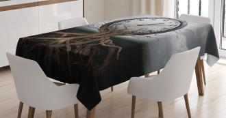 Clock Surrealist Symbol Tablecloth