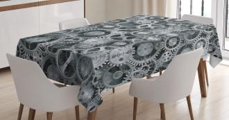 Clock Technologic Pattern Tablecloth