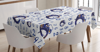 Caligraphic Numbers Tablecloth