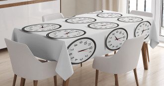 Clocks and Black Numbers Tablecloth