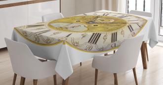 Ornamental Roman Digits Tablecloth