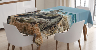 Driftwood Shore Seagull Tablecloth