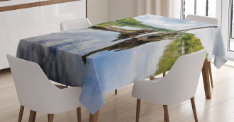 White Cedar Tree Trunk Tablecloth