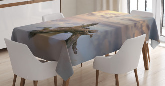 Sunrise on Sandy Beach Tablecloth