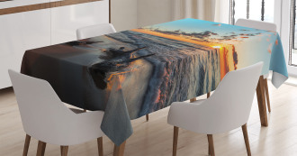 Cloudy Sky Digital View Tablecloth