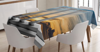 Sunset Modern Antique Tablecloth
