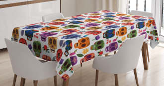 Tribal Scary Mask Tablecloth