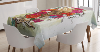 Dead Flowers Spain Tablecloth