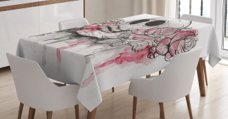 Skull Head Roses Tablecloth