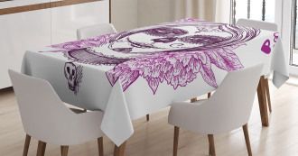 Vampire Skull Face Tablecloth